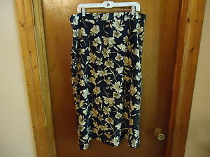 Womens-More-Promises-Size-22-W-Floral-Skirt-034-BEAUTIFUL-SKIRT-034