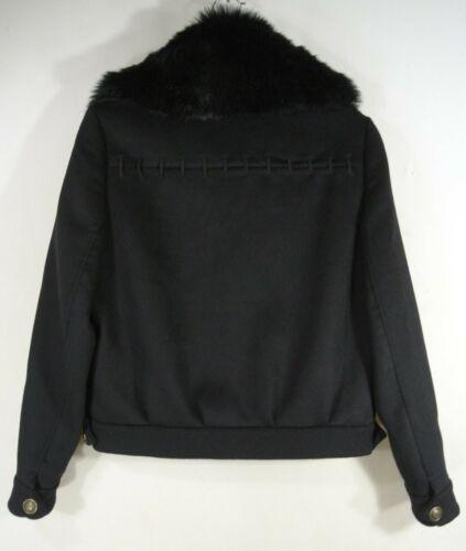 New Size Collar S Black In Jesse Ramy Fur Jacket Faux Brook rXpqrwxzA