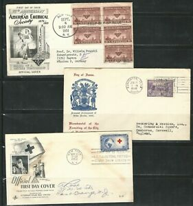 Usa-And-Canada-lot-of-7-diff-F-D-C-included-1-official-cover-US488