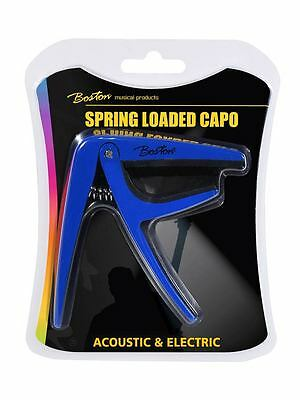 Ernst Boston Spring Loaded Capo Bc-85-bu Blue Capo Electric Or Accoustic