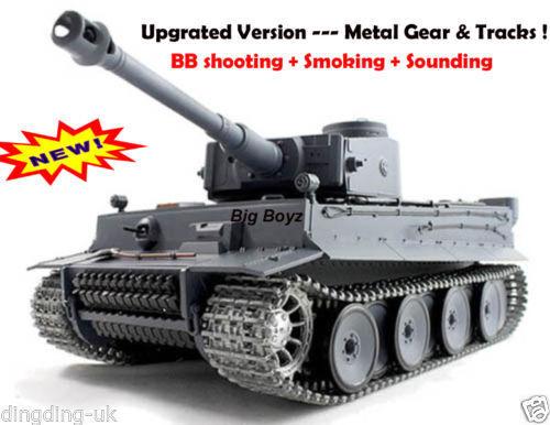 HENG LONG RADIO REMOTE CONTROL R C TIGER 1 TANK -- 2.4 G  Pro Version
