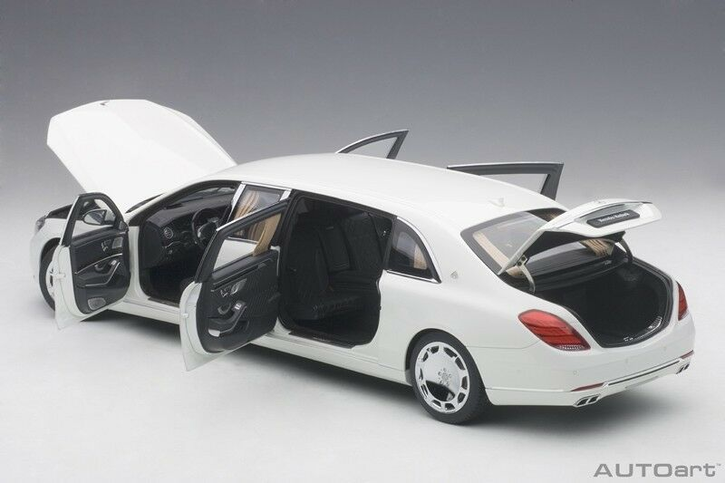 Autoart 2016 MERCEDES BENZ MAYBACH S 600 PULLMAN Weiß 1 18 Scale New In Stock