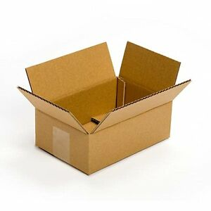25 pack 9x6x4 corrugated cardboard packing shipping. Black Bedroom Furniture Sets. Home Design Ideas