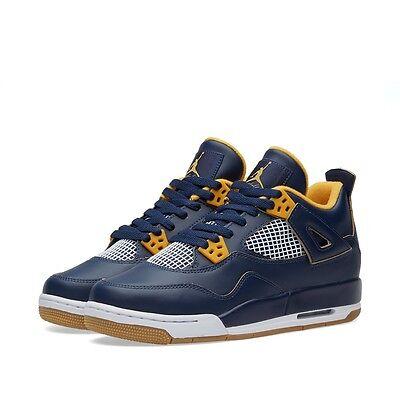 Nike Air Jordan Retro IV 4 Dunk From Above Midnight Navy Gold White 308497-425