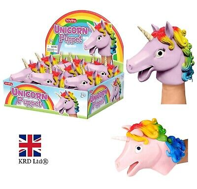 UNICORN RAINBOW HAND PUPPET Imaginative Play Silicone Kids Puppets TSC-UHP UK
