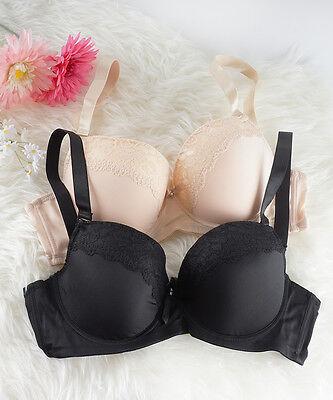Plus Size Bra Grey Nude D and DD Cup Bra Black Lace Bras Double D Bras