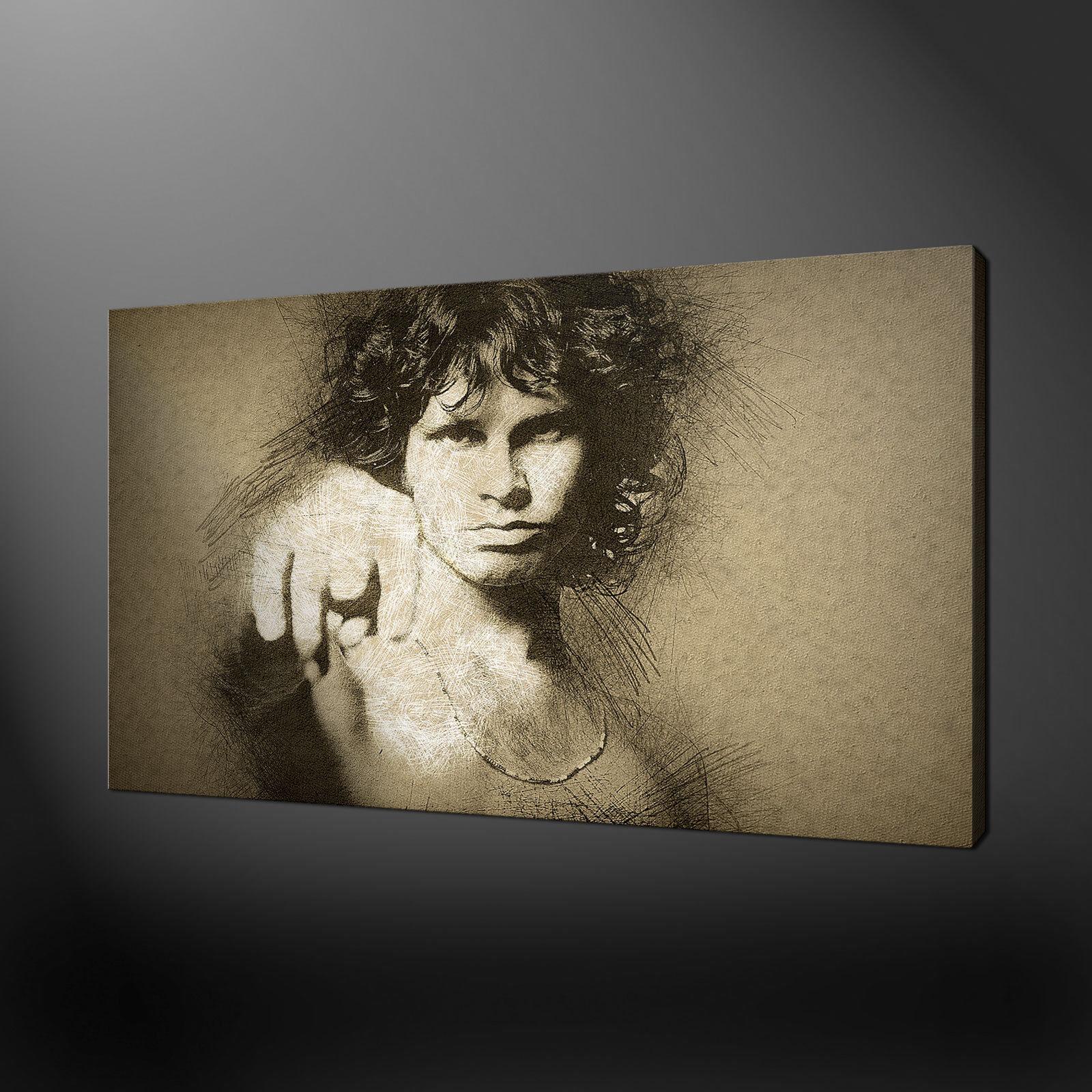 JIM MORRISON MUSICA icona stampa foto su tela Wall Art Free Fast UK Consegna