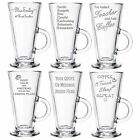 Personalised Engraved Latte Coffee Glass End of Term Gifts 2016 Head Teacher