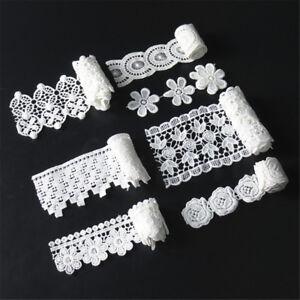 1-Yard-White-Venise-Lace-Edge-Trim-Wedding-Ribbon-Applique-DIY-Sewing-Craft
