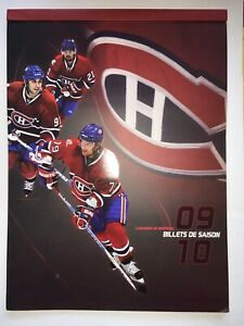 NHL-Montreal-Canadiens-2009-2010-Season-Ticket-Folder-With-3-Tickets