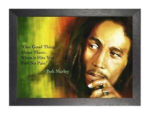 Détails Sur Bob Marley 1 Jamaican Chanteur Reggae Citation Poster Musique Photo Dreadlocks Imprimer Afficher Le Titre D Origine