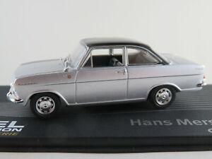 Ixo-135-Opel-Kadett-A-coupe-1962-034-mersheimer-034-en-plata-negro-1-43-nuevo-PC