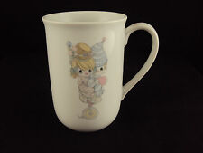 Precious Moments Porcelain Mug, 21059C, Clown Couple, Issued 1984, Free Shipping