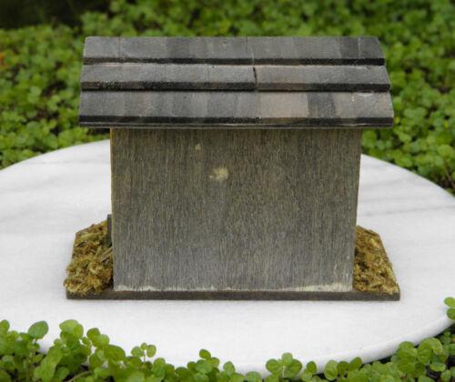 Miniature Dollhouse FAIRY GARDEN ~ Wood Double-Door Chicken Coop Bunny Hutch