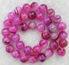 """Natural 8mm Pink Agate Onyx Round Loose Beads Gemstone 15"""""""