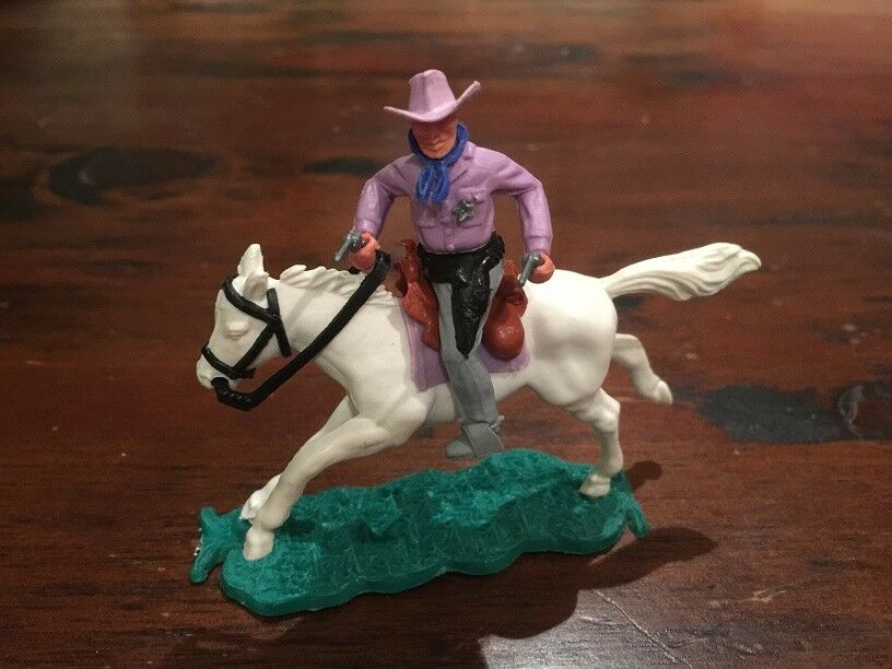Timpo 2° Serie violac Mounted Sceriffo - Wild West - 1960's