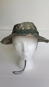 Boonie Bucket Hat size 7 green gray camouflage army type IV Bernard ... a271d1c5ff6