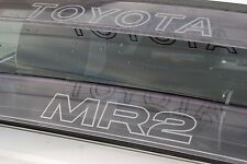 TOYOTA MR2 MK1 M R 2 rear roof clear visor decal, sticker, AW11 (by C pillar)