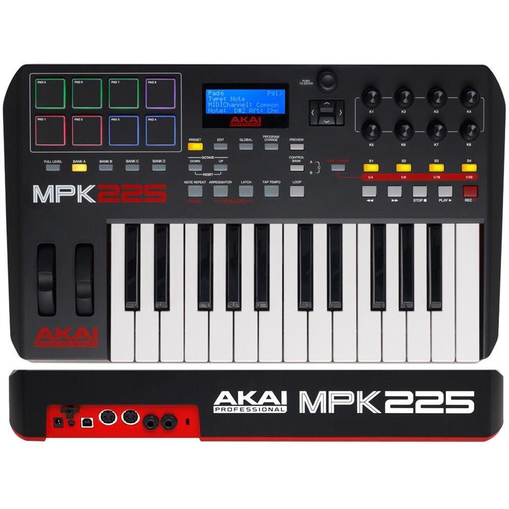 consegna rapida AKAI MPK225 controller keyboard tastiera MIDI USB 25 tasti 8pad 8pad 8pad pc mac GARANTITA  in vendita scontato del 70%