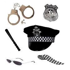 Women's Girls Policewoman Set Cop Police Kit Hen Hat Fancy Dress Party Costume