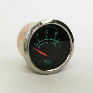 Marshall-60s-Muscle-Fuel-Level-Gauge-0-90-Ohm-Polished-Stainless-Bezel-2945SS