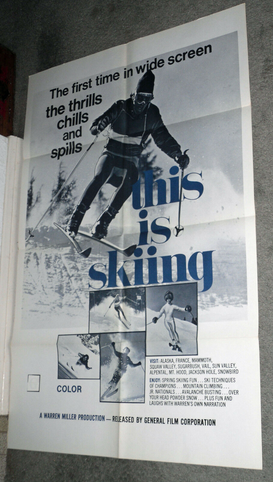 THIS IS SKIING SKIING SKIING orig 1972 one sheet movie poster DOWNHILL SKIING/WARREN MILLER e46d2f