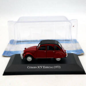 IXO-Altaya-1-43-Citroen-3CV-Especial-1972-Red-Diecast-Models-Limited-Edition