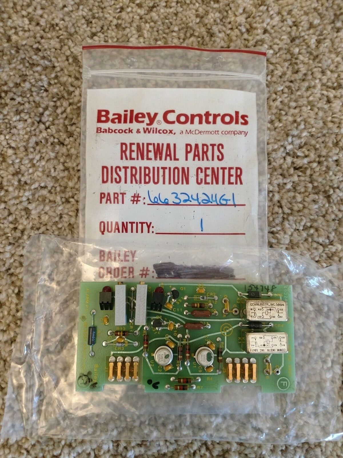 Bailey Controls 6632424G1 PCB - New