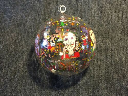 "James Rizzi Rosenthal 3 Motive Weihnachtskugeln /""CHRISTMAS IN NEW YORK/"""