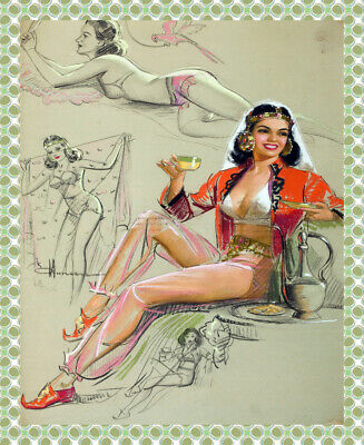 8895.Decoration Poster.Home room interior art decor print.Sexy Pinup Witch