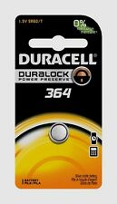 NEW! Duracell 364 Button Coin Battery Silver Oxide 1.5 volt Watch/Electronic
