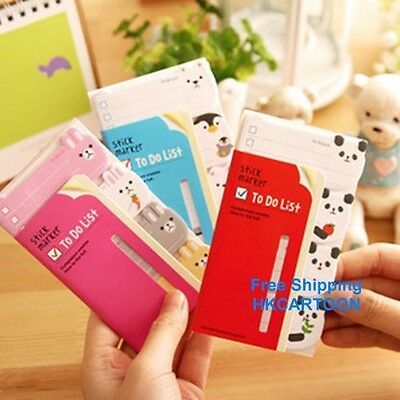 Cartoon Animal Candy Color 4 Pattern Stick Marker Posted Paper Sticky Notes