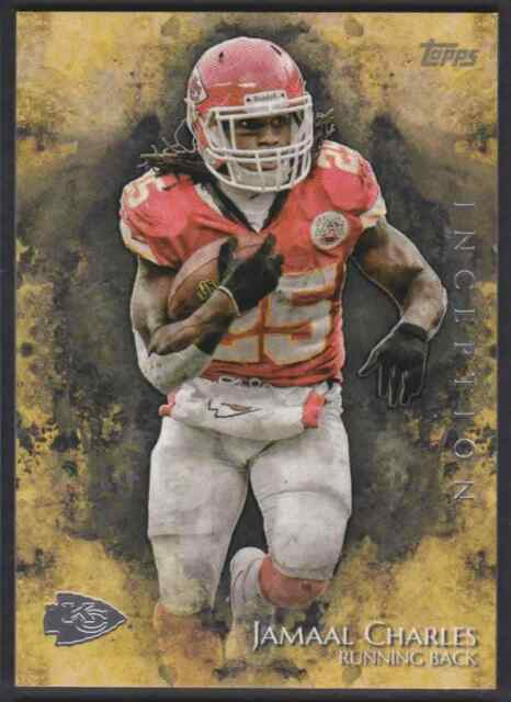 2014 TOPPS INCEPTION JAMAAL CHARLES KANSAS CITY CHIEFS #26