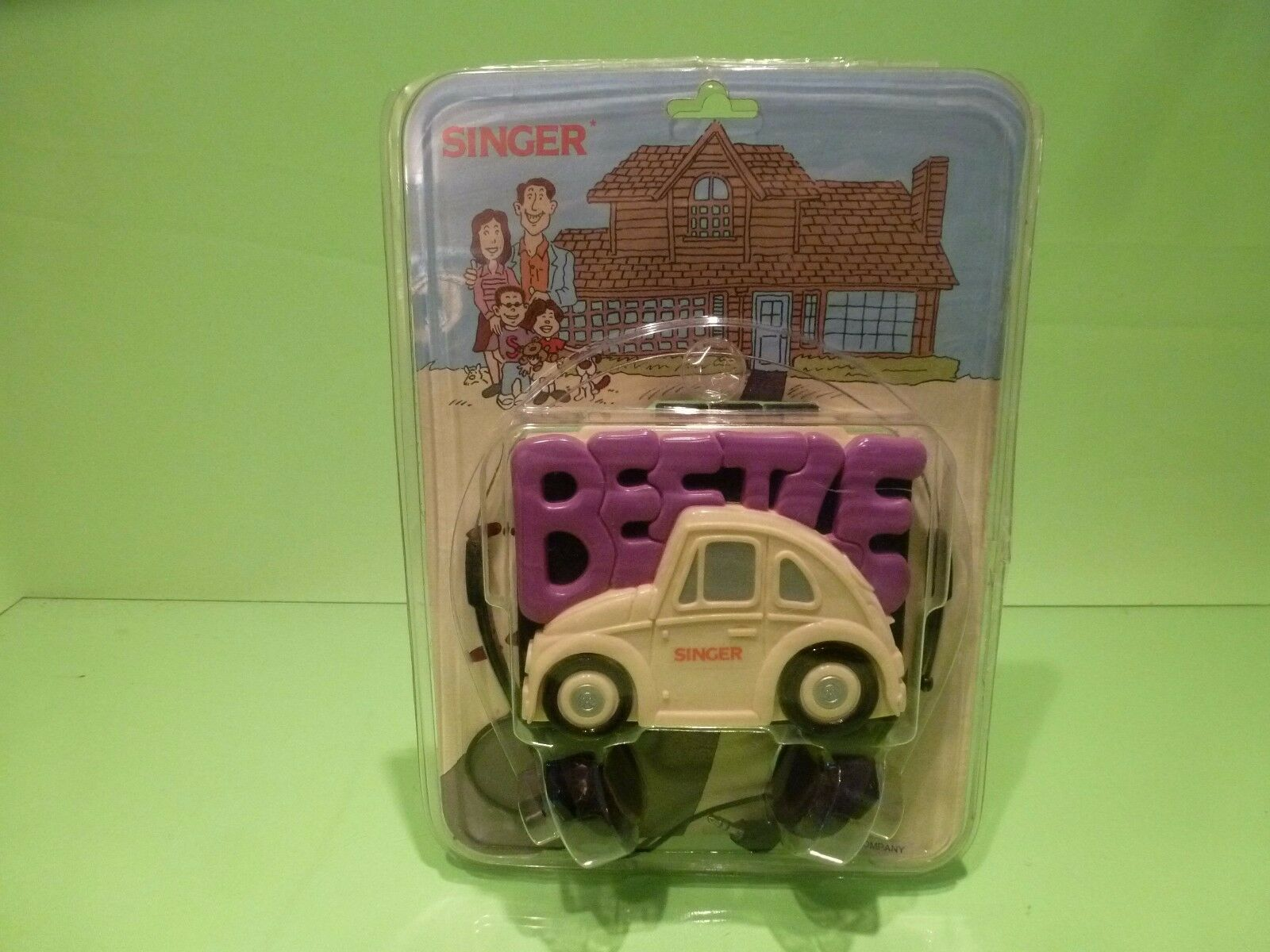 VINTAGE OLD WALKMAN SINGER VW VOLKSWAGEN BEETLE - TAPE CASSETTE GOOD IN BLISTER