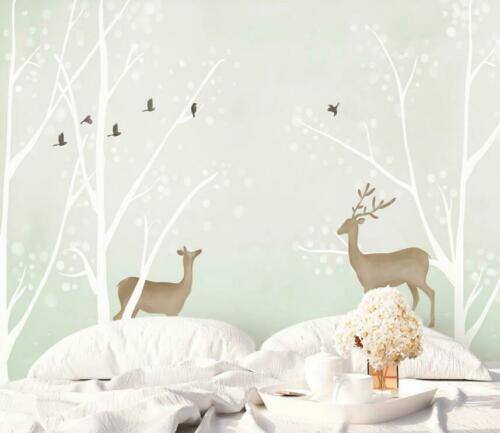 3D Woods Elk O1824 Wallpaper Wall Mural Removable Self-adhesive Sticker Kids Amy
