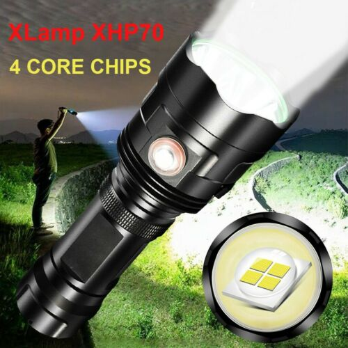 LED Flashlight 3*XHP70 Torch USB 5 Mode Rechargeable Waterproof Lamp Ultra Brigh