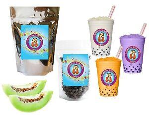 10-Drinks-Honeydew-Boba-Tea-Kit-Tea-Powder-Tapioca-Pearls-amp-Straws