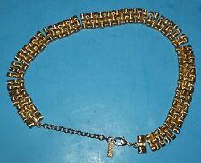 "Napier Gold Tone Necklace Signed Napier 15"" long Fashion Jewelry"