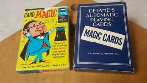 Card-Magic-1959-Ed-U-Cards-Deland-039-s-Automatic-Playing-Cards-Lot