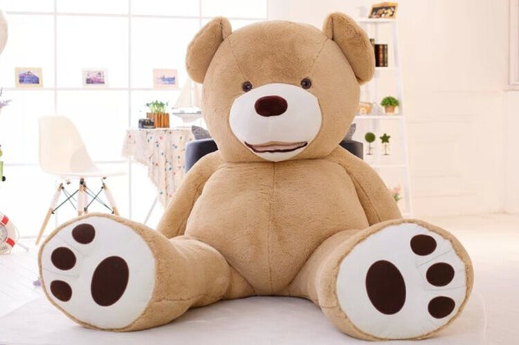 99'' 2.6m Huge Super Teddy Bear Plush Toy Shell (Only Cover) With Zipper Cushion