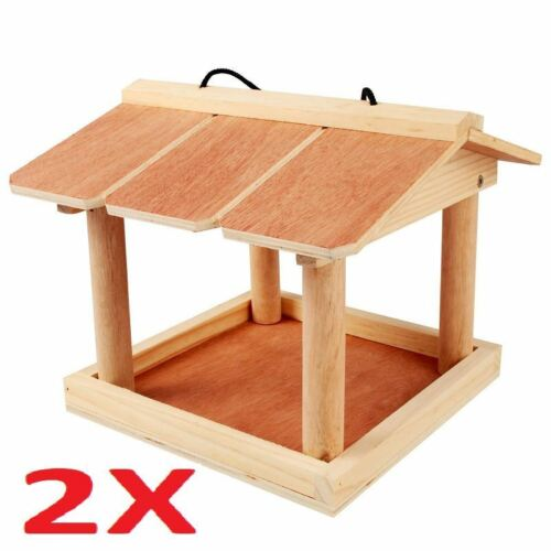 Big money off deals for 2 Hanging wooden bird table from kingfisher 3 or 4.