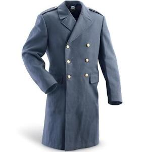 MENS-WOOL-MILITARY-SWEDISH-ARMY-VINTAGE-JACKET-PEA-TRENCH-COAT-DOUBLE-BREASTED