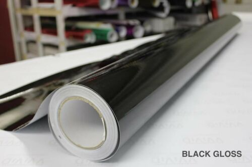 Black Gloss Vinyl 5ft x 35ft New Bubble-Free Wrap for Car Bike Boat Trailer