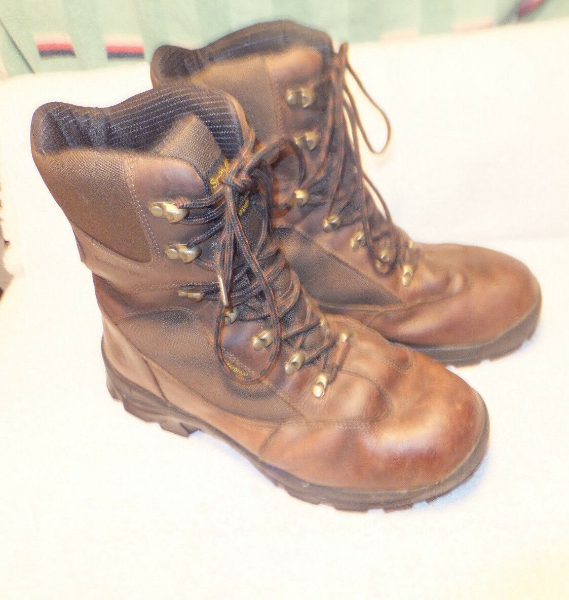 Smith & Wesson Footwear Hunting Boots Brown Leather Waterproof   Size 13M  hot
