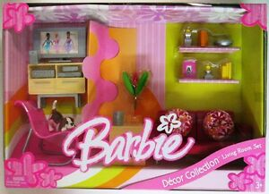 Image Is Loading Barbie Living Room Set Decor Collection NEW