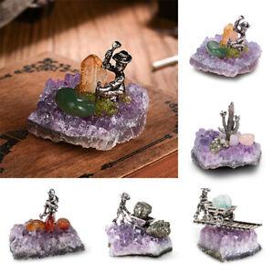 Natural-Amethyst-Quartz-Geode-Druzy-Crystal-Cluster-Specimen-Home-Decor-Gifts