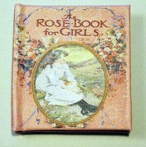 Bien Livre Miniature Dollshouse-le Livre Rose Pour Filles-afficher Le Titre D'origine Une Grande VariéTé De Marchandises
