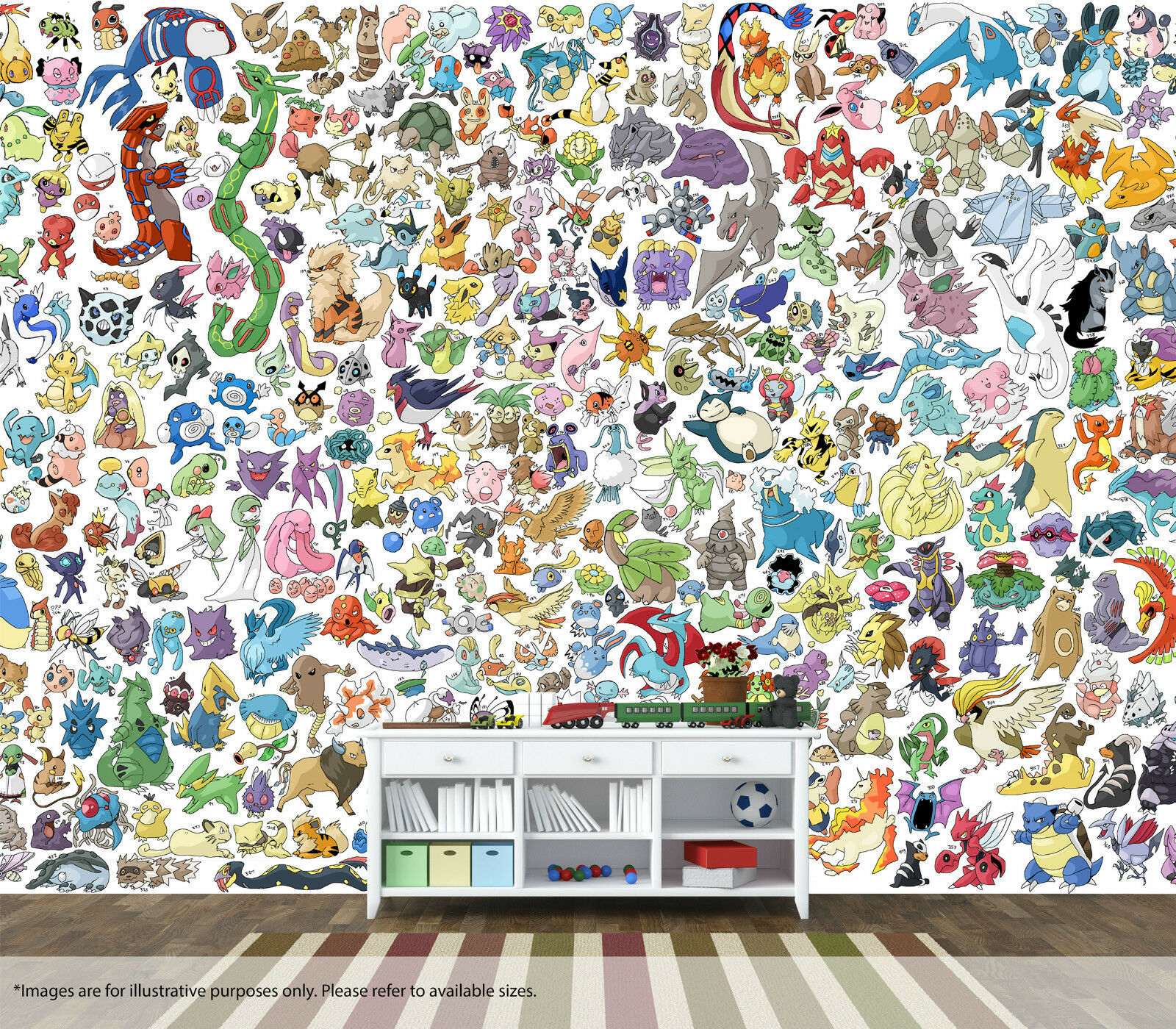 Pokemon Wall Art Wall Mural Quality Pastable Wallpaper Decal