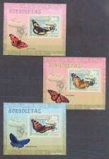 MOZAMBIQUE 2007, Butterflies,  set of 6SS, De Luxe MNH**(9)