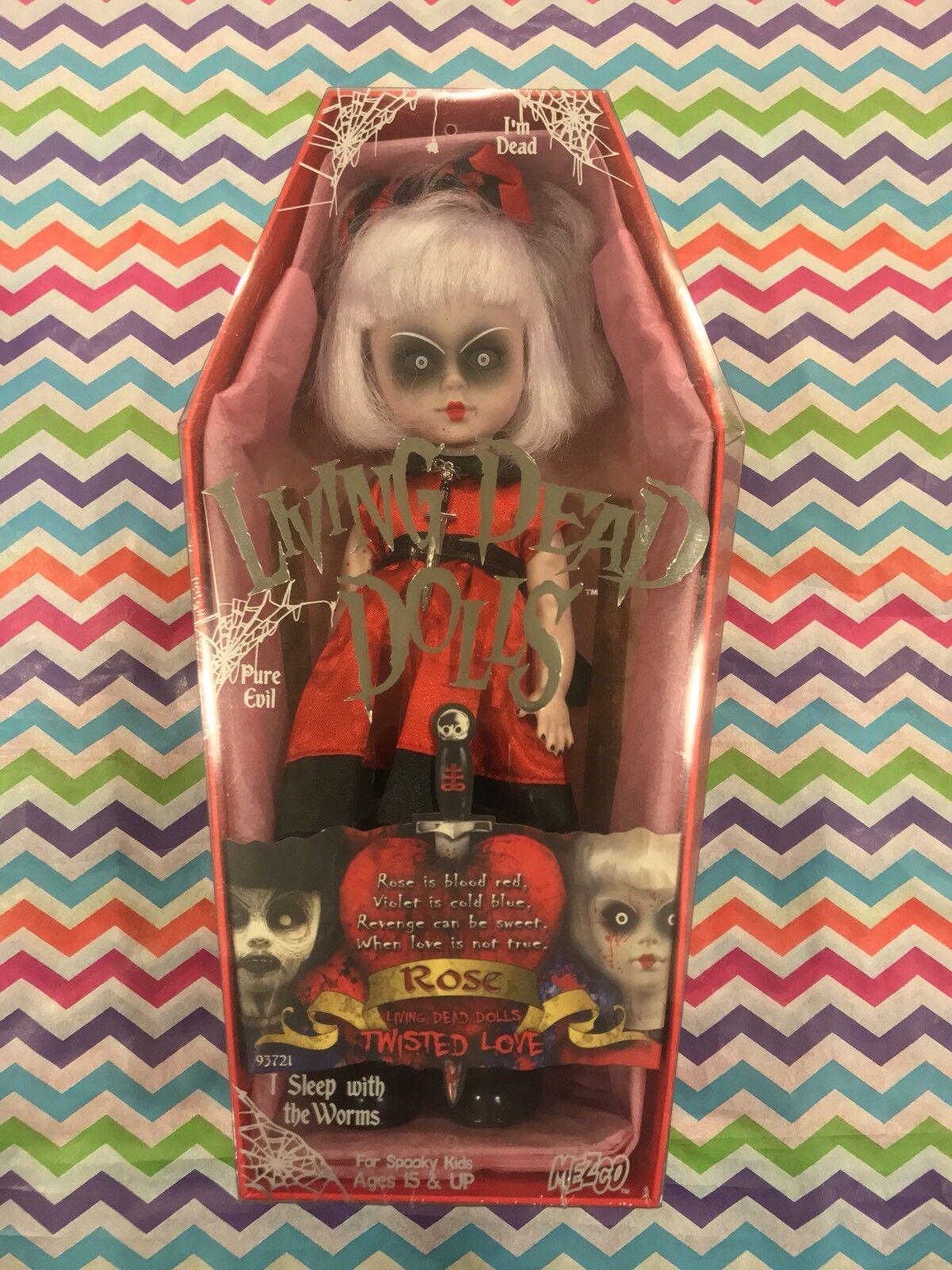 Living Dead Dolls trenzado amor rosado Sellado Envío Gratis